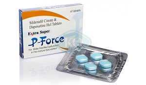 Extra Super P-Force - Viagra+Dapoxetine - 4 бр. хапчета по 200 мг